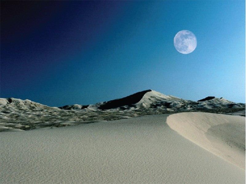 מדבר לאור ירח